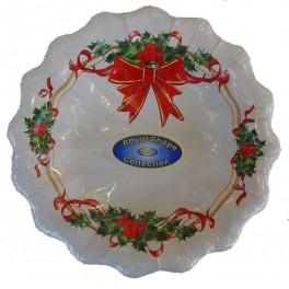 Piatti fondi usa e getta Fiocco Natale