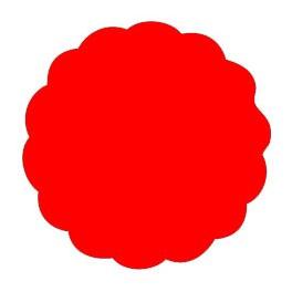 Tovaglia rotonda in TNT rossa