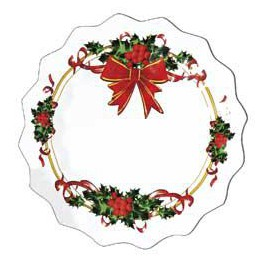Piattini usa e getta Fiocco Natale